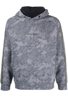 Armani long sleeve bleached effect hoodie