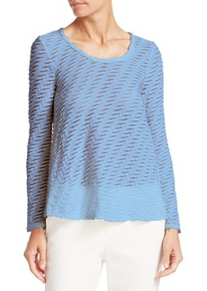Armani Long Sleeve Jacquard Top