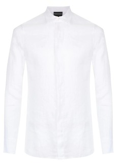 Armani long-sleeve linen shirt