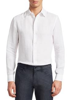 Armani Long Sleeve Linen Shirt