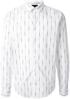Armani long sleeve logo striped shirt