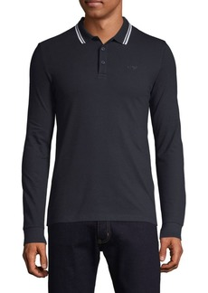 Armani Long-Sleeve Polo