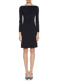 Armani Long-Sleeve Ruched Jersey Dress