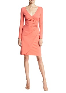 Armani Long-Sleeve Ruched Milano Jersey Dress