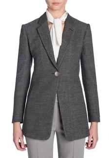 Armani Long-Sleeve Sable Single-Breasted Jacket