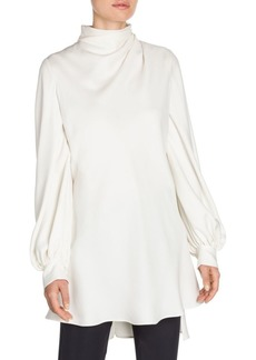 Armani Long Sleeve Silk Tunic Blouse