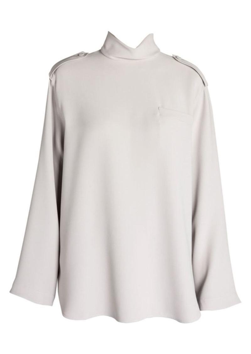 Armani Long Sleeve Silk Turtleneck Tunic