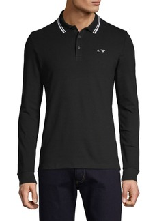 Armani Long-Sleeve Stretch Polo