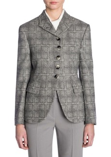 Armani Long-Sleeve Wool Button-Up Jacket