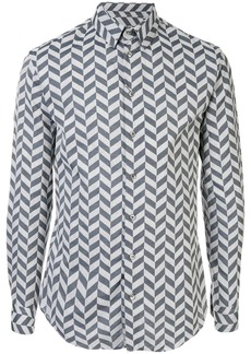 Armani long-sleeved chevron shirt