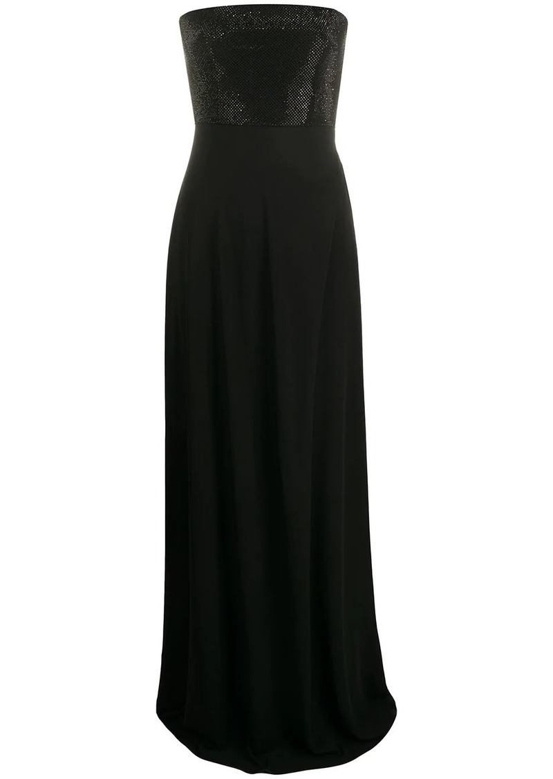 Armani long strapless gown