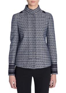 Armani Long Stripe Sleeve Button-Up Jacket