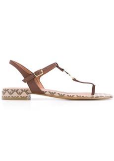 Armani low-heel logo sandals