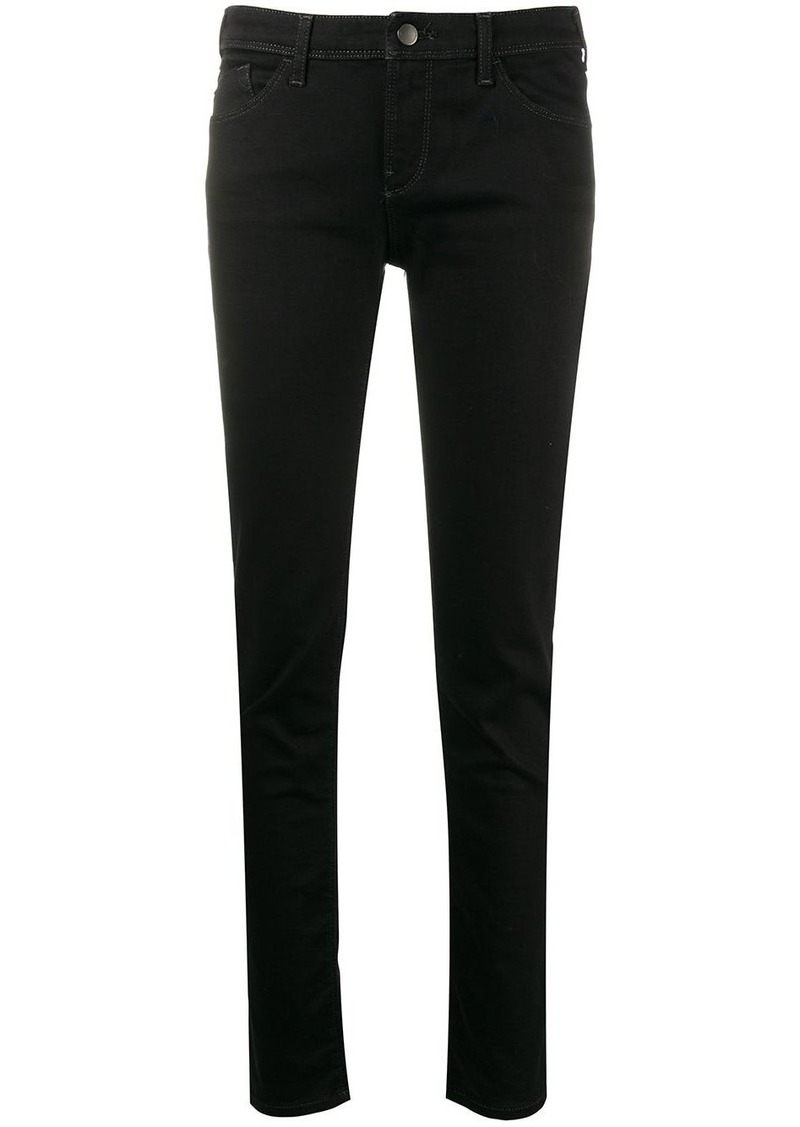 Armani low rise skinny jeans