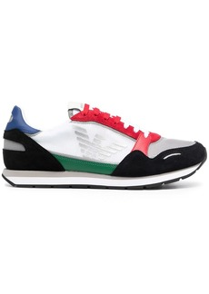 Armani low-top side-logo trainers