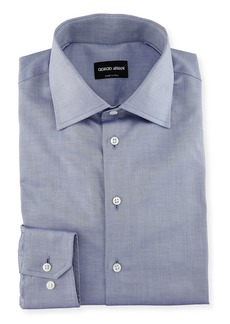 Armani Men's Light Blue Basic Dress Shirt