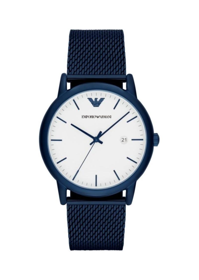 Armani Luigi 3-Hand Stainless Steel Bracelet Watch