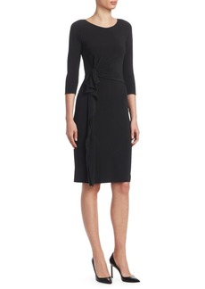 Armani Matte Jersey Side Ruffle Sheath Dress