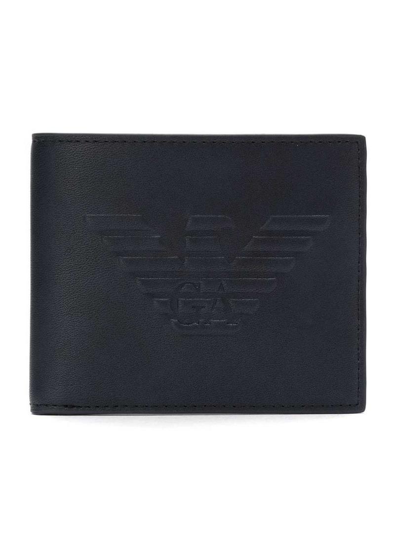 Armani maxi logo billfold wallet