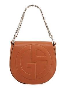 Armani Medium Leather Flap-Top Crossbody Bag