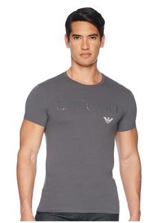 Armani Megalogo Slim Fit Crewneck T-Shirt