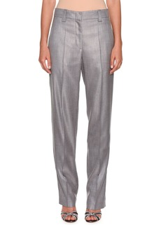 Armani Melange Straight-Leg Trousers