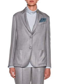 Armani Melange Two-Button Blazer