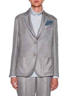 Armani Melange Two-Button Blazer