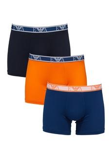 Armani Men's 3-Pack Stretch-Cotton Boxer Briefs