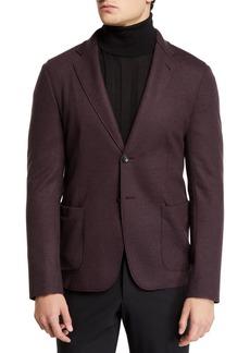 Armani Men's 91 Deconstructed Double-Face Two-Button Jacket