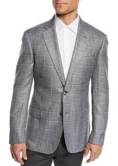 Armani Men's Bamboo Windowpane Sport Coat