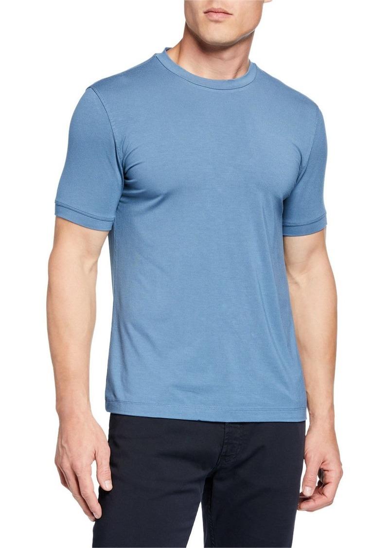 Armani Men's Basic Crewneck T-Shirt  Medium Blue