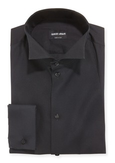 Armani Men's Bib-Front Formal Dress Shirt