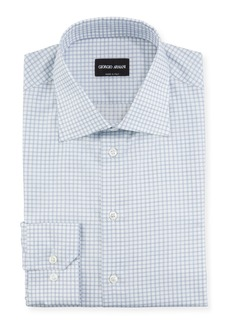 Armani Men's Check Dress Shirt