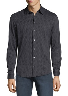 Armani Men's Chevron-Print Sport Shirt