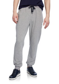 Armani Men's Classic Terry Drawstring Trousers