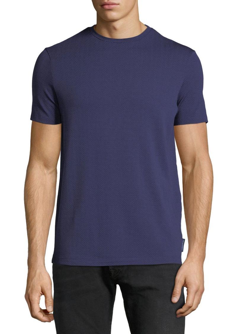 Armani Men's Crewneck Short-Sleeve Chevron-Print T-Shirt