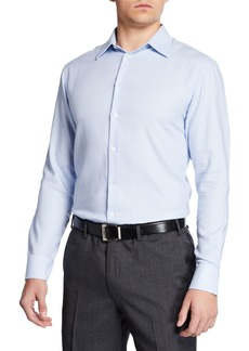 Armani Men's Diagonal Stripe Modern Fit Dress Shirt
