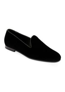 Armani Men's Formal Velvet Loafer