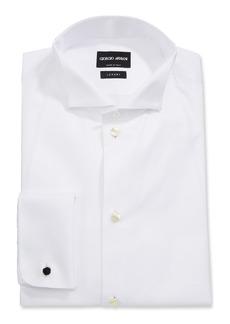 Armani Men's Front Bib Formal Tuxedo Shirt