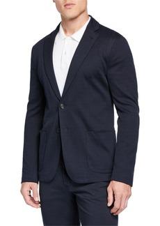 Armani Men's Geo Jersey Soft Jacket