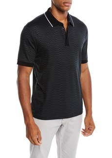 Armani Men's Geo-Printed Polo Shirt