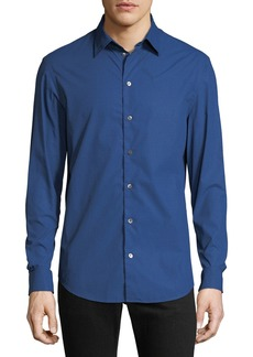 Armani Men's Hexagon-Pattern Sport Shirt