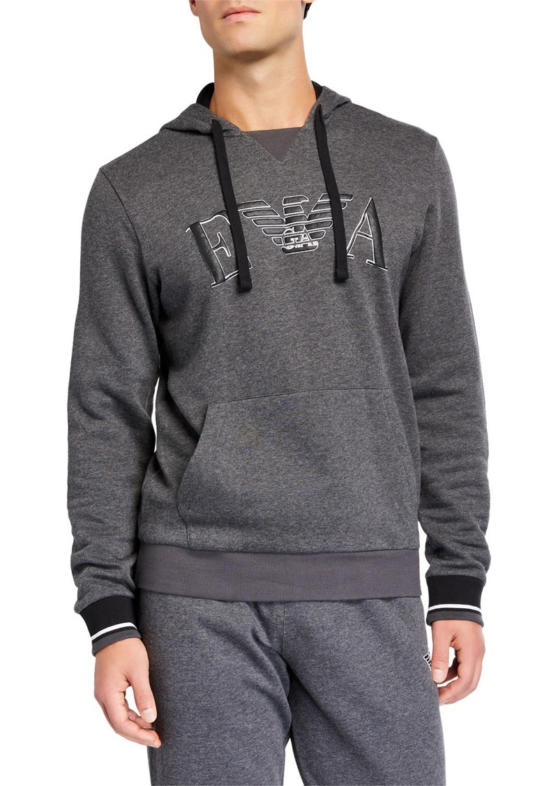 Armani Men's Iconic Terry Hoodie Sweater
