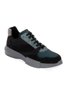 Armani Men's Leather & Mesh Training Sneakers