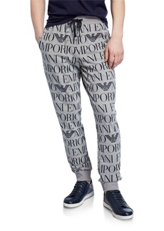Armani Men's Logo Graphic Drawstring Trousers