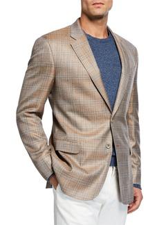 Armani Men's Melange Plaid Sport Coat