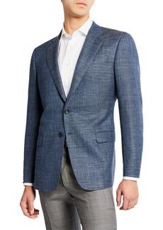 Armani Men's Melange Wool/Linen Sport Coat