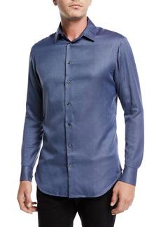 Armani Men's Micro-Dot Sport Shirt