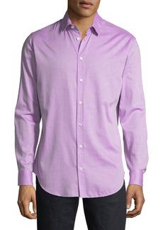 Armani Men's Micro Neat Long-Sleeve Sport Shirt